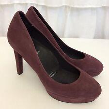 ROCKPORT adiPRENE by Adidas Janae Plum Heels Women's Leather Dress Shoes Sz 6.5