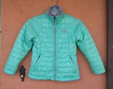 The North Face Girls Reversible Coat Jacket Size Small 7/8 AQUA GRAY
