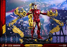 Hot Toys MMS462D22 Iron Man Mark IV 4 Diecast W/ Suit-up Gantry 1/6 Set In Stock