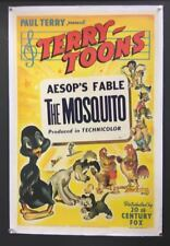 Terry Toons The Mosquito Movie Poster 1945 Aesop's Fables    *Hollywood Posters