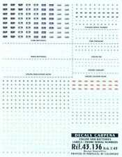 Colorado Decals 1/43 ENGINE & BATTERY LABELS FRAME NUMBERS