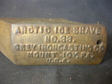 Old Vtg Arctic Ice Shave Shaver #33 Grey Iron Casting Co Mounty Joy Pa Usa