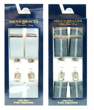 Pack Of 2 One Size Fully Adjustable Mens Braces by Hetherington Gray PICK COLOUR