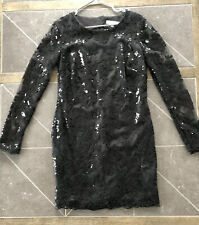 Womens Black Holiday Christmas Dress Size L Dress The Population Sequin
