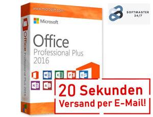 Microsoft Office 2016 Professional Plus Key Deutsch E-Mail DE-Händler MS Produkt