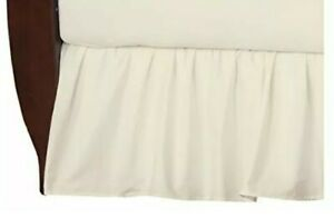 TL Care 100% Natural Cotton Percale Crib Bed Skirt, Ecru, Soft Breathable, for B