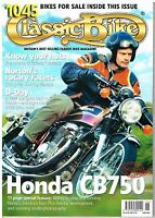 Classic Bike June 2004  Honda CB750 Rotary Norton WW2 bikes BSA M20 3HW G3/L 16H