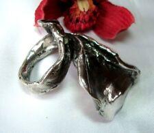 Mächtiger massiver Design Ring 835 Silber Modernist 60 / 70 Jahre / cd 105