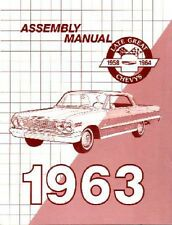 1963 Chevrolet Balaire Biscayne Impala Assembly Manual Instructions Illustration