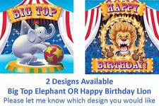 Circus Big Top Party Supplies Napkins/Serviettes 16pk 3 Ply - Elephant OR Lion