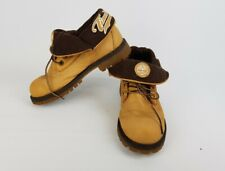 Timberland 22918m Wheat Tan Roll Top Lace Up leather Ankle Boots