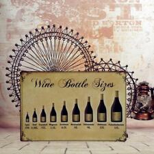 Wine Bottle Sizes 29 Metal Sheet Metal Sign Retro Picture Bar Wall Plaque