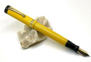 Antique Parker Duofold Senior Yellow Mandarin Fountain Pen, Mint, '20 USA (S304)