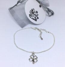 Good Luck bracelet four-leaf clover friend gift christmas -tag, organza bag