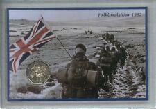 La guerra delle FALKLAND 1982 isole FALKLAND ISOLE ANNIVERSARIO MONETA regalo visualizzazione