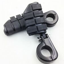 """Dually Highway Clamps Foot Pegs For Harley Black 1.25"""" 1-1/4"""" Guard"""