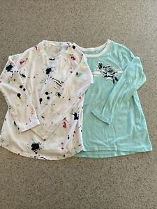 Lot of 2 Long Sleeve Justice Tops Size 6