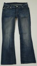 rock & republic womens jeans size 29 bootcut stretch embellished bling denim C