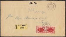 Kingdom SHS 1921 R-letter Kotor-Tivat without stamp, franked in Tivat 2 porto st