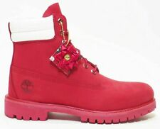 """TIMBERLAND MEN'S PREMIUM 6"""" LIMITED HOLIDAY EDITION DOUBLE COLLAR DARK RED A2BZC"""
