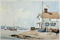 FRED MARSHALLSAY Watercolour Painting THE MEDINA NEAR EAST COWES ISLE OF WIGHT