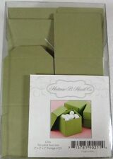 25 NEW Olive Green Square Lidded Favor Boxes