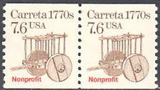 SC#2255 7.6c Carretta Coil Pair MNH