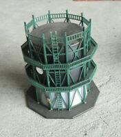 "Piko Germany HO Scale Black Green Water Tank Structure 4 1/2"" Tall"