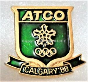 1988 OLYMPICS CALGARY GREEN ATCO SNOWFLAKE SPONSOR Pin