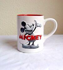 Disney 3D Black/White Mickey Mouse White/Red Ceramic 16 Oz. Coffee Mug MB1