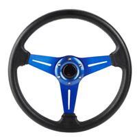 14in 350mm Universal Aluminum PU Leather Car Sport Racing Drift Steering Wheel
