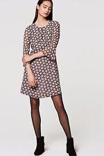NWT ANN TAYLOR LOFT Whisper White Bloom Ruffle Cuff 3/4 Sleeve Dress Size 4
