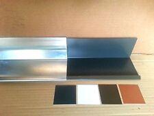 1m Wandanschluss Blech Alu Aluminium Farbig oder Natur - 0,8 mm
