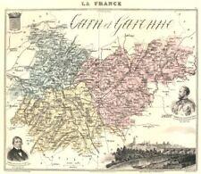 TARN-ET-GARONNE. département. Montauban vignette. Vuillemin 1903 old map