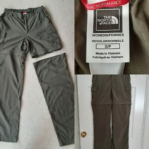 THE NORTH FACE Size S/P Olive Green Cargo Trousers Shorts Combo VGC