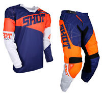 2018 SHOT INFINITE MOTOCROSS MX ENDURO PANT & JERSEY KIT BLUE/NEON KTM ORANGE