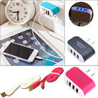 Triple USB Charging Port Data Cable Charger Cord for Samsung Sony Andriod phones