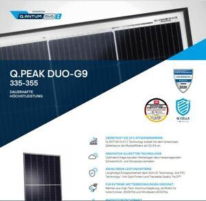 Solarmodul Hanwha Q CELLS  Q.PEAK  G9 350 Wp auch einzeln, nur 1673mm × 1030mm