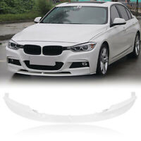 2x Front Bumper Spoiler Lower Lip For 2012-2018 BMW F30 3 Series Sport M White M