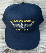 USS Thomas Jefferson SSBN-618 Ball Cap Submarine Dolphins FBM Sub Vet Navy Hat