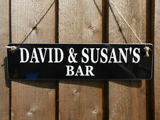 PERSONALISED BAR ANY NAME SIGN BBQ GARDEN PARTY PUB HOME BAR DAD GIFT SIGN NEW!!