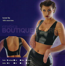 Boutique Bizarre 100% Vero Latex Lattice Top Canotta Nero Tg. S FETISH DARK GOGO