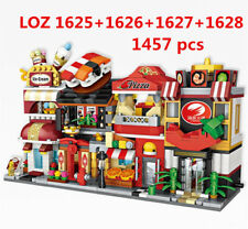 4 Set 1457pcs LOZ MINI Blocks DIY Building Kids Toys Puzzle Food Store 1625-1628