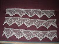 #991  Beautiful Vintage 3 Filet Laces   120cm/23cm(47''x9'')
