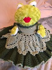 Frog Stuffed Animal With Handmade Dress