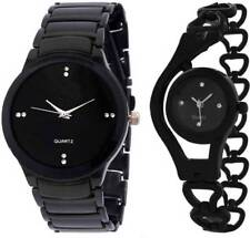 black iik ,black glory chain Watch - For couple set of 2 pcs