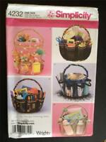 Simplicity Pattern 4232 Craft Bucket Cover Accessories One Size Uncut
