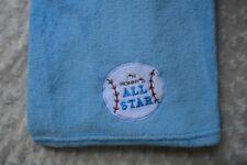 Bon Bebe Baby Blanket I'm Mommy's All Star Baseball Blue White Security Lovey