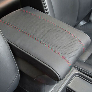 Black/Red Car Accessories Armrest Cushion Cover Center Console Box Pad Protector