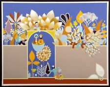 "David Sharir ""A Gate For the Garden"" Hand Signed Art Serigraph Israeli Artist"